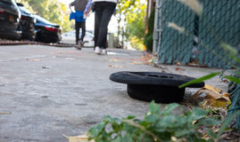 Old jewish hat on the street. Jewish hat lying on the ground in Williamsburg Royalty Free Stock Photos