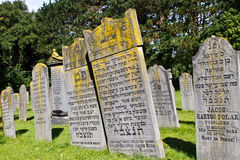 Old Jewish headstones Royalty Free Stock Photos