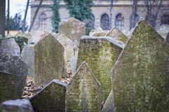 Old Jewish Tombstone Royalty Free Stock Photography