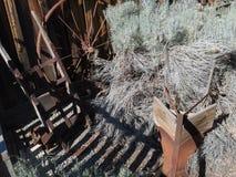 Old John Deere plow stock photography