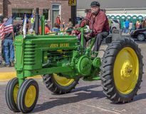Old John Deere Tractor in Pella, Iowa Stock Image