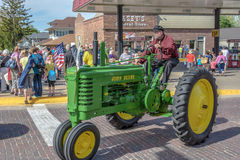 Old John Deere Tractor in Pella, Iowa Royalty Free Stock Images