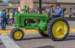 Old John Deere Tractor in Pella, Iowa Stock Photos