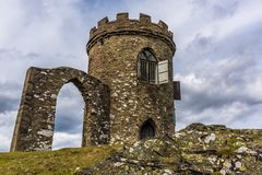 Old John folly in Bradgate Park, Leicestershire. A view of the deserted Old John folly in Bradgate Park, Leicestershire Royalty Free Stock Images