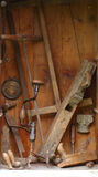Old joiner tools Stock Image