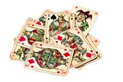 Old joker cards Stock Photo