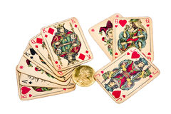 Old joker cards Stock Photo