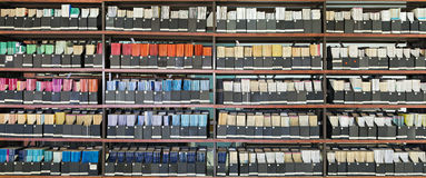 Old  journals in a library Stock Images