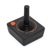 Old joystick. For playing games on tv stock photo