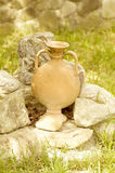 Old jug in garden Royalty Free Stock Photography