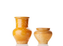 Old jug and pot Royalty Free Stock Photos