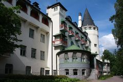 Old jugend castle called Valtionhotelli Royalty Free Stock Photography