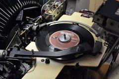 Old Jukebox. Inside jukebox playing vinyl records Royalty Free Stock Photo