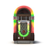 Old jukebox music player  on white 3D Illustration Royalty Free Stock Images