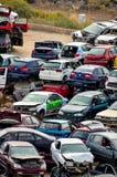 Old Junk Cars On Junkyard Stock Image