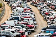 Old Junk Cars On Junkyard Royalty Free Stock Photo
