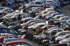Old Junk Cars On Junkyard Stock Images