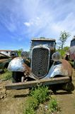 Old junked Chevy pickup Royalty Free Stock Photo