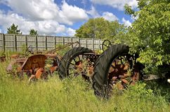 Old junked tractors Stock Photo