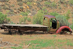 Old Junker. Old junked truck left rotting and wasting in the desert Royalty Free Stock Photo