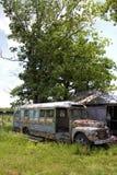 Old Junkyard Rusty School Bus Royalty Free Stock Photography