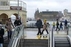 Old Kadikoy Pier. New Kadikoy-Kartal subway exit Kadikoy Royalty Free Stock Photography