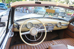 Old Kaiser car. The old Kaiser car at the show Royalty Free Stock Images