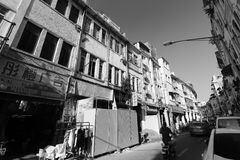 Old kaiyuanlu street black and white image Royalty Free Stock Photography