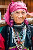 Old Karen tribe women. Stock Images