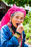 Old Karen tribe women. Royalty Free Stock Images