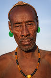 Old Karo man in South Omo, Ethiopia. Stock Photos