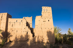 Old Kasbah in Morocco. A kasbah or in older English casbah; a qasbah or qassabah in India, is a type of medina, Islamic city, or fortress (citadel Stock Photos