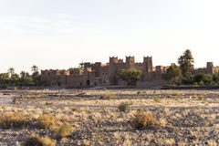 Old Kasbah in Morocco. A kasbah or in older English casbah; a qasbah or qassabah in India, is a type of medina, Islamic city, or fortress (citadel Royalty Free Stock Photography