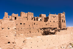 Old Kasbah in Morocco. A kasbah or in older English casbah; a qasbah or qassabah in India, is a type of medina, Islamic city, or fortress (citadel Royalty Free Stock Images
