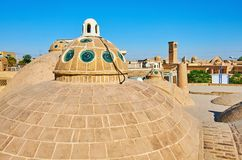 The skyline of Kashan, Iran royalty free stock photography