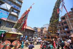 Old Kathmandu streets Stock Photo