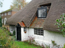 Old kent thatched cottage. Photo of a beautiful thatched cottage in the heart of the kent countryside Royalty Free Stock Images