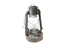 Old kerosene lamp isolated on white background Stock Photos