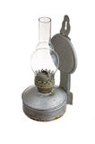 Old kerosene lamp isolated on white background Royalty Free Stock Photography
