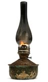 Old kerosene lamp isolated on white background Royalty Free Stock Images