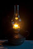 Old kerosene lamp light Royalty Free Stock Images