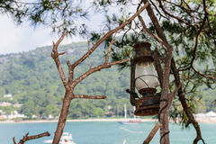 Old kerosene lamp Royalty Free Stock Photos