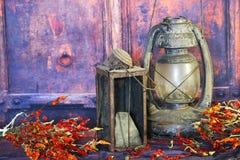 Old Kerosene Lantern Lamps Royalty Free Stock Images