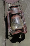 Old kerosene lantern. Rusty unused kerosne lantern unused for a long time Stock Photo