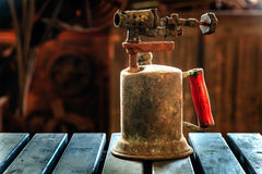 Old kerosene torch Stock Photo