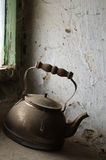 Old kettle for boiling water Stock Photography