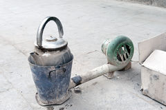 Old kettle on the Chinese street. Stock Photo