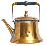 Old kettle isolated. Stock Image