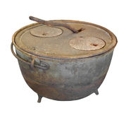 Old kettle stove isolated. Stock Photography