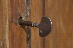 Old key of the church in Smerillo, Marche region Stock Image